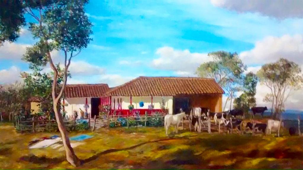 La Colmenera - Pintura de la casa antigua