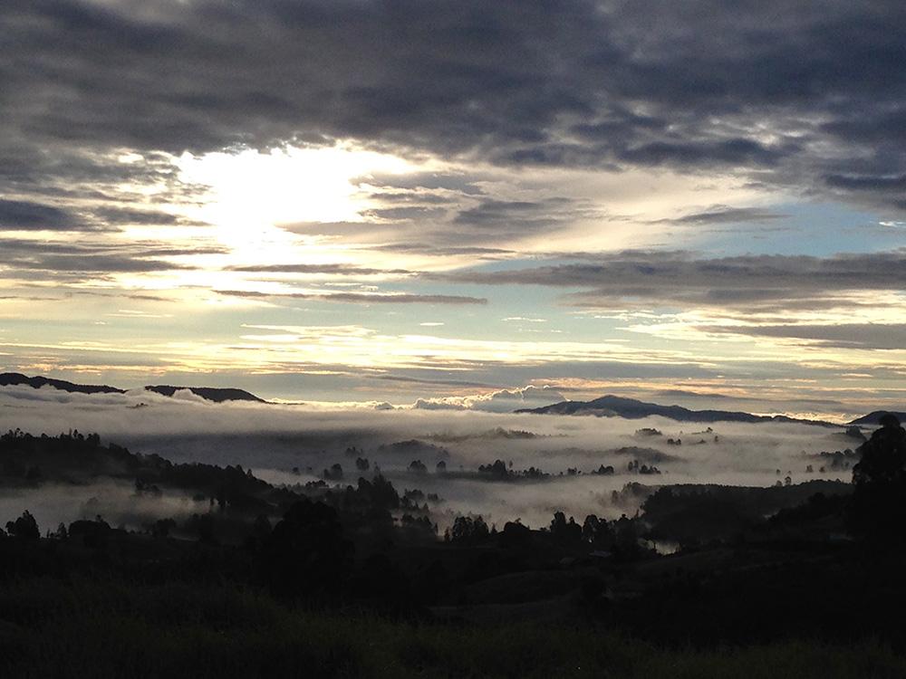 Sunrise view at La Colmenera